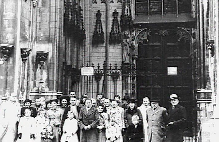 Afscheid emigranten in Den Bosch